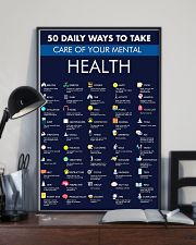 Teacher 50 Daily Ways To Take Care Mental Health 11x17 Poster lifestyle-poster-2
