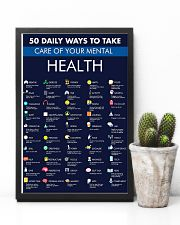Teacher 50 Daily Ways To Take Care Mental Health 11x17 Poster lifestyle-poster-8