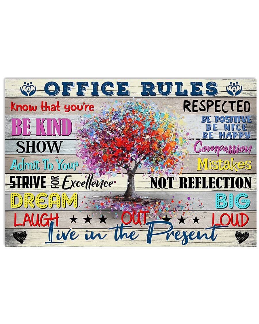 Social Worker Office Rules 17x11 Poster