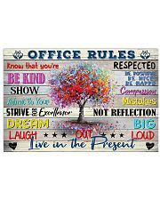 Social Worker Office Rules 17x11 Poster front
