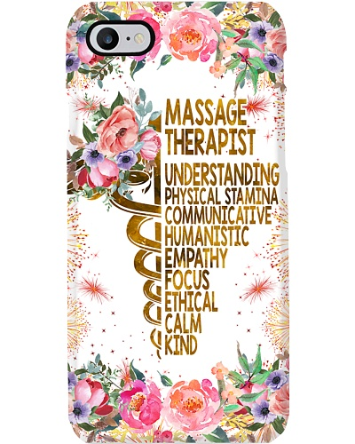 Massage Therapist Flower Caduceus