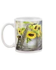 Saxophonist Sunflower Saxophone Mug back