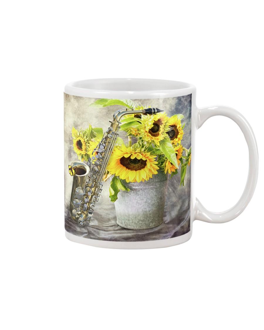 Saxophonist Sunflower Saxophone Mug