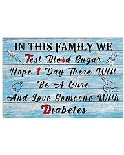 Diabetes In This Family  17x11 Poster front