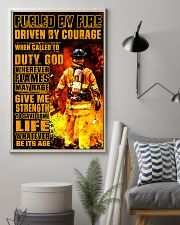 Firefighter Fueled by Fire Poster 11x17 Poster lifestyle-poster-1