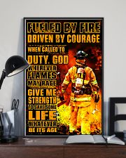 Firefighter Fueled by Fire Poster 11x17 Poster lifestyle-poster-2