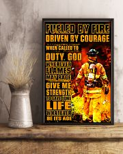 Firefighter Fueled by Fire Poster 11x17 Poster lifestyle-poster-3