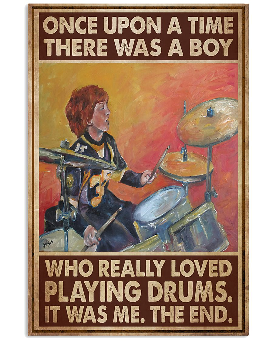 Drummer A Boy Who Really Loved Playing Drums 11x17 Poster