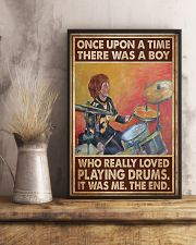 Drummer A Boy Who Really Loved Playing Drums 11x17 Poster lifestyle-poster-3