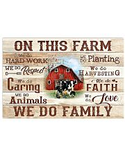 Farmer On This Farm We Do Family 17x11 Poster front