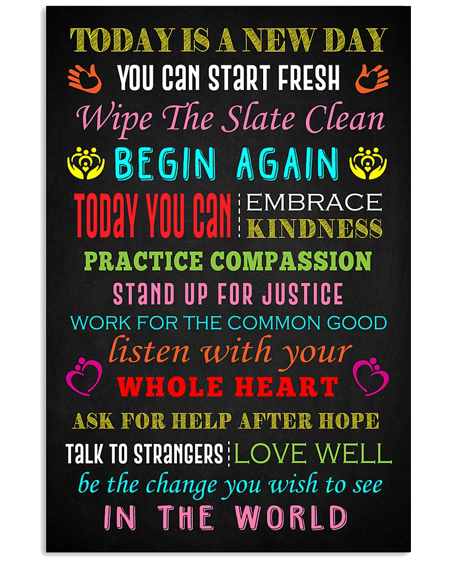 Social Worker Today is a new day Poster 11x17 Poster
