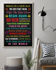 Social Worker Today is a new day Poster 11x17 Poster lifestyle-poster-1