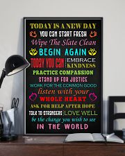 Social Worker Today is a new day Poster 11x17 Poster lifestyle-poster-2