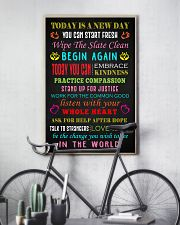 Social Worker Today is a new day Poster 11x17 Poster lifestyle-poster-7