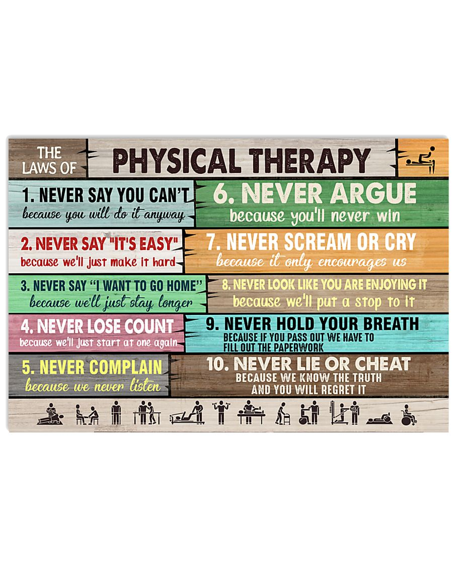 The Laws Of Physical Therapy 17x11 Poster
