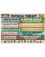 The Laws Of Physical Therapy 17x11 Poster front