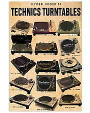 DJ A visual history of technics turntables 11x17 Poster front