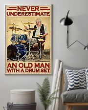 Never Underestimate An Old Man With A Drum Set 11x17 Poster lifestyle-poster-1