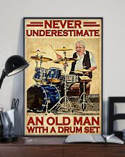 Never Underestimate An Old Man With A Drum Set 11x17 Poster lifestyle-poster-2