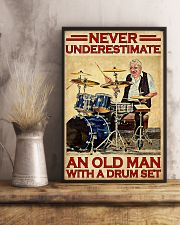 Never Underestimate An Old Man With A Drum Set 11x17 Poster lifestyle-poster-3