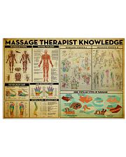 Massage Therapy Knowledge 17x11 Poster front