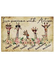Autism Awareness Love Someone With Autism 17x11 Poster front