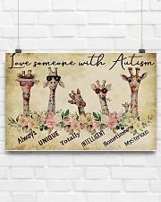 Autism Awareness Love Someone With Autism 17x11 Poster poster-landscape-17x11-lifestyle-17