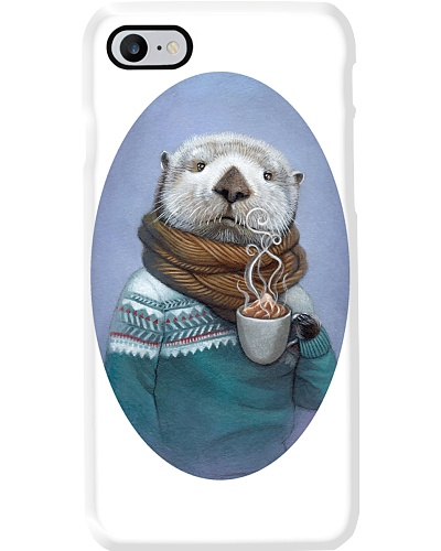 Otter Holding Coffee Mug Phonecase
