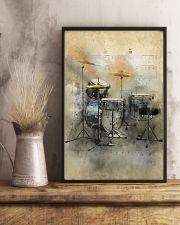 Drummer - Vintage Drum Set 11x17 Poster lifestyle-poster-3
