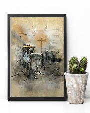 Drummer - Vintage Drum Set 11x17 Poster lifestyle-poster-8