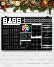 Bass Guitar Black Chart  17x11 Poster aos-poster-landscape-17x11-lifestyle-28