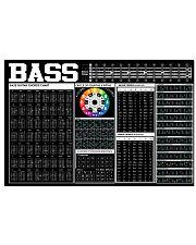 Bass Guitar Black Chart  17x11 Poster front