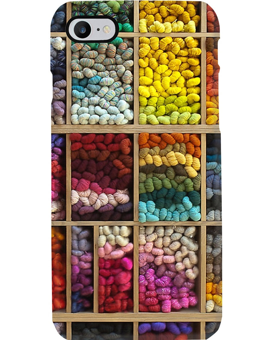 Crochet and Knitting Colorful Wool Rolls Phone Case
