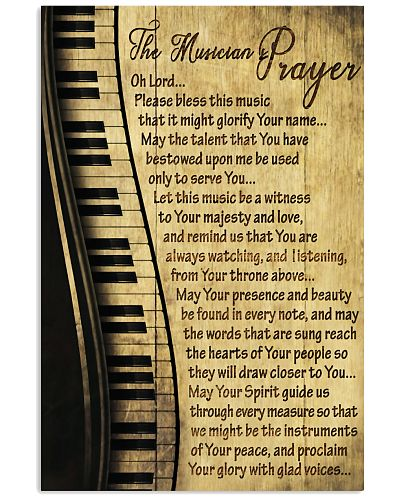 Piano The Musician's Prayer Poster