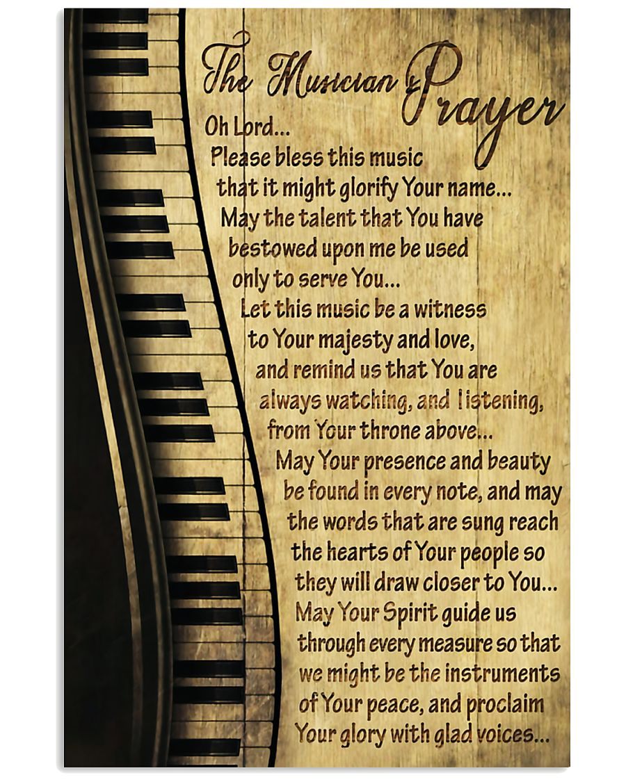 Piano The Musician's Prayer Poster 11x17 Poster