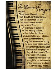 Piano The Musician's Prayer Poster 11x17 Poster front