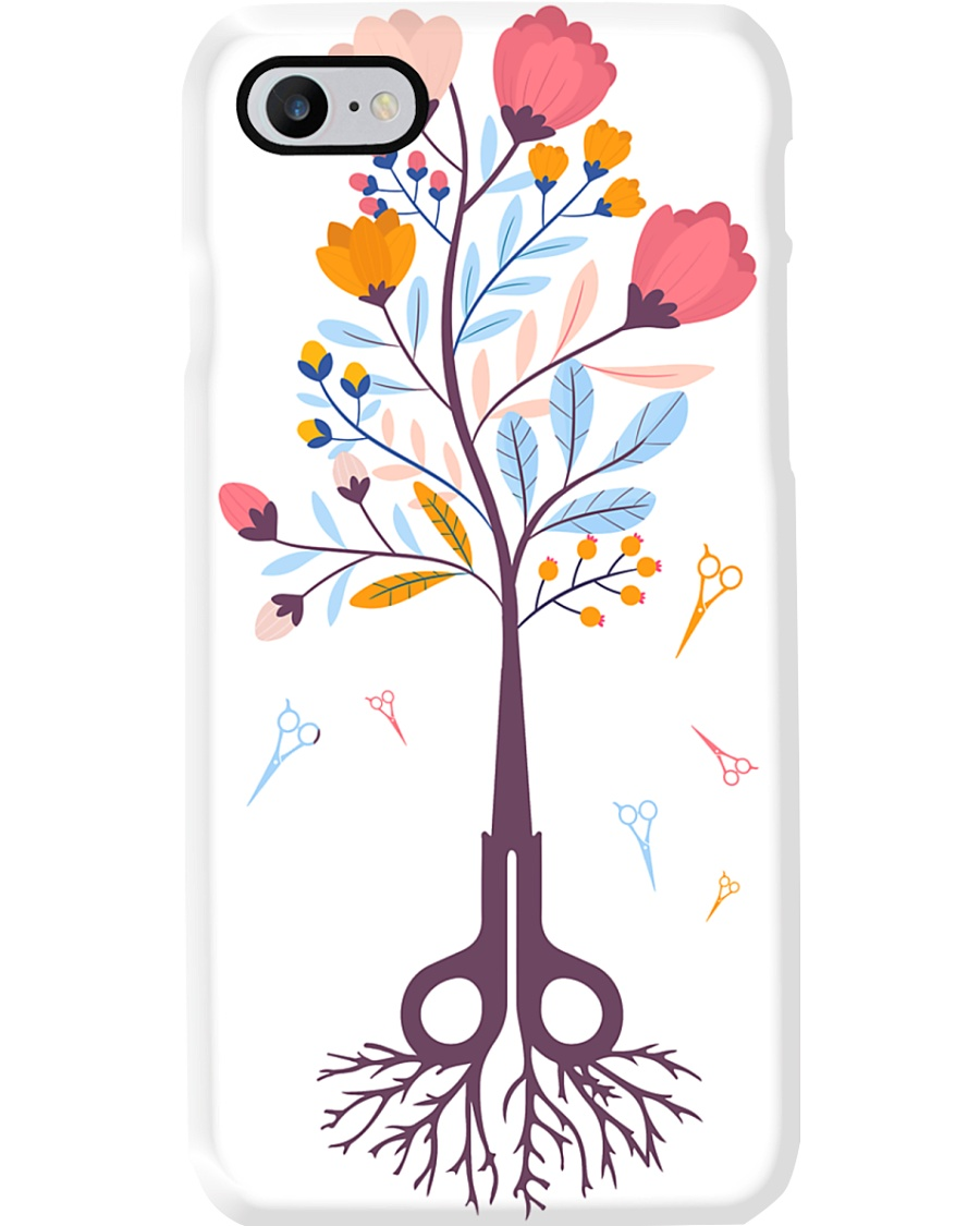 Hairstylist Scissors Tree Magnets Phone Case