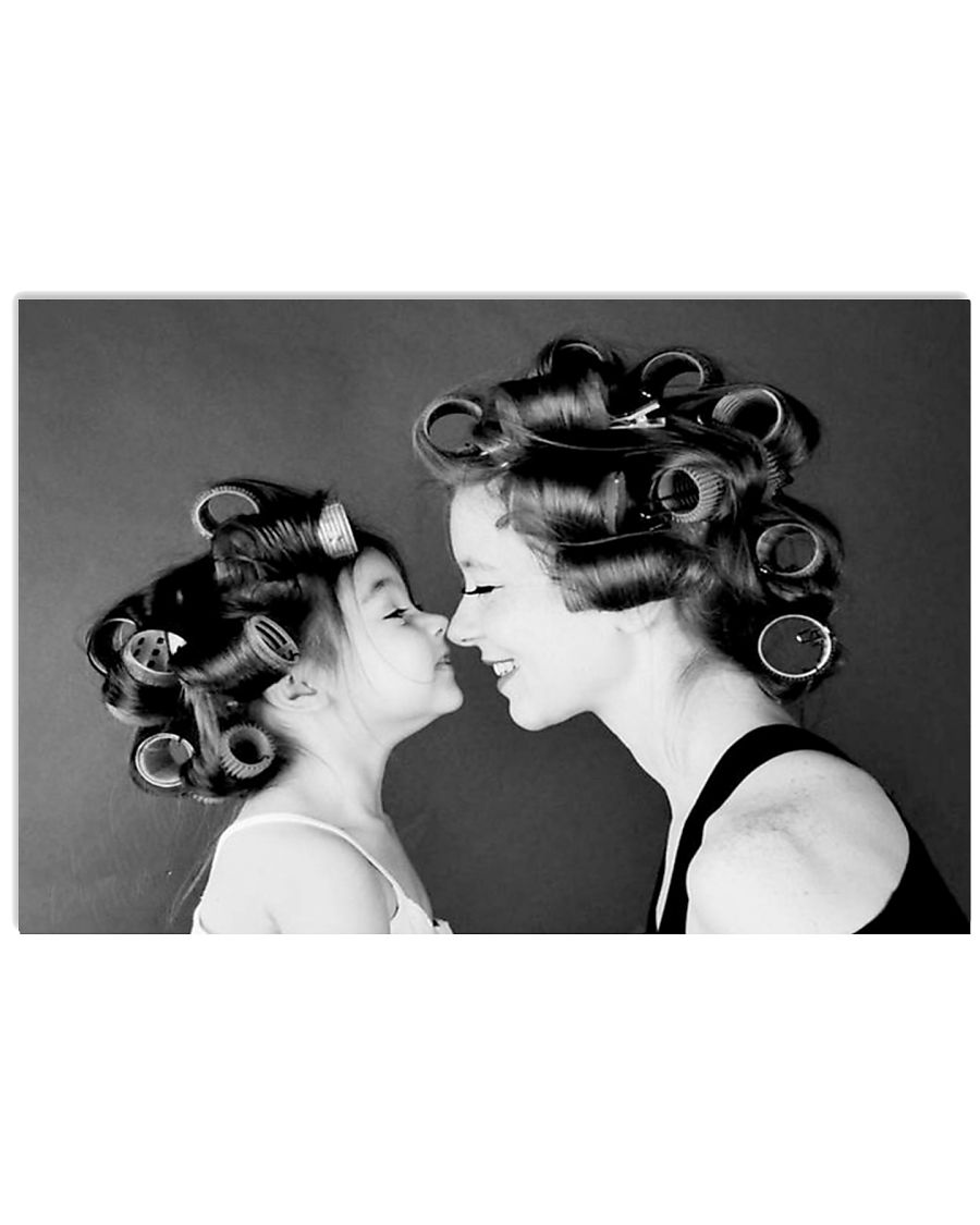 Hairdresser Mom And Daughter 17x11 Poster