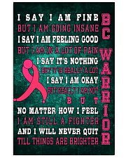 Breast Cancer I Will Never Quit 16x24 Poster front