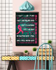Breast Cancer I Will Never Quit 16x24 Poster lifestyle-poster-6