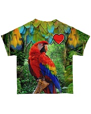 Beautiful Parrot All-over T-Shirt back