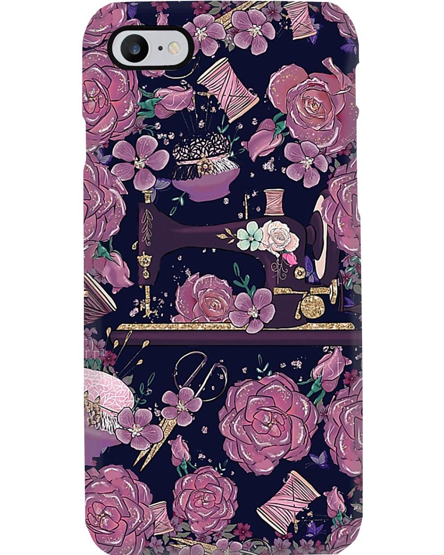 Purple Rose Sewing Machine Phone Case