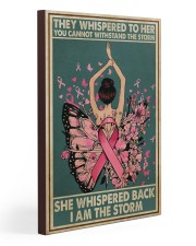 Breast Cancer I Am The Storm 20x30 Gallery Wrapped Canvas Prints thumbnail