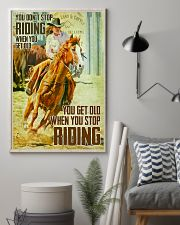 Horse Girl You Don't Stop Riding When You Get Old 11x17 Poster lifestyle-poster-1