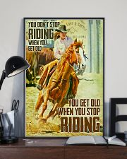 Horse Girl You Don't Stop Riding When You Get Old 11x17 Poster lifestyle-poster-2