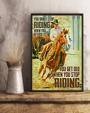 Horse Girl You Don't Stop Riding When You Get Old 11x17 Poster lifestyle-poster-3