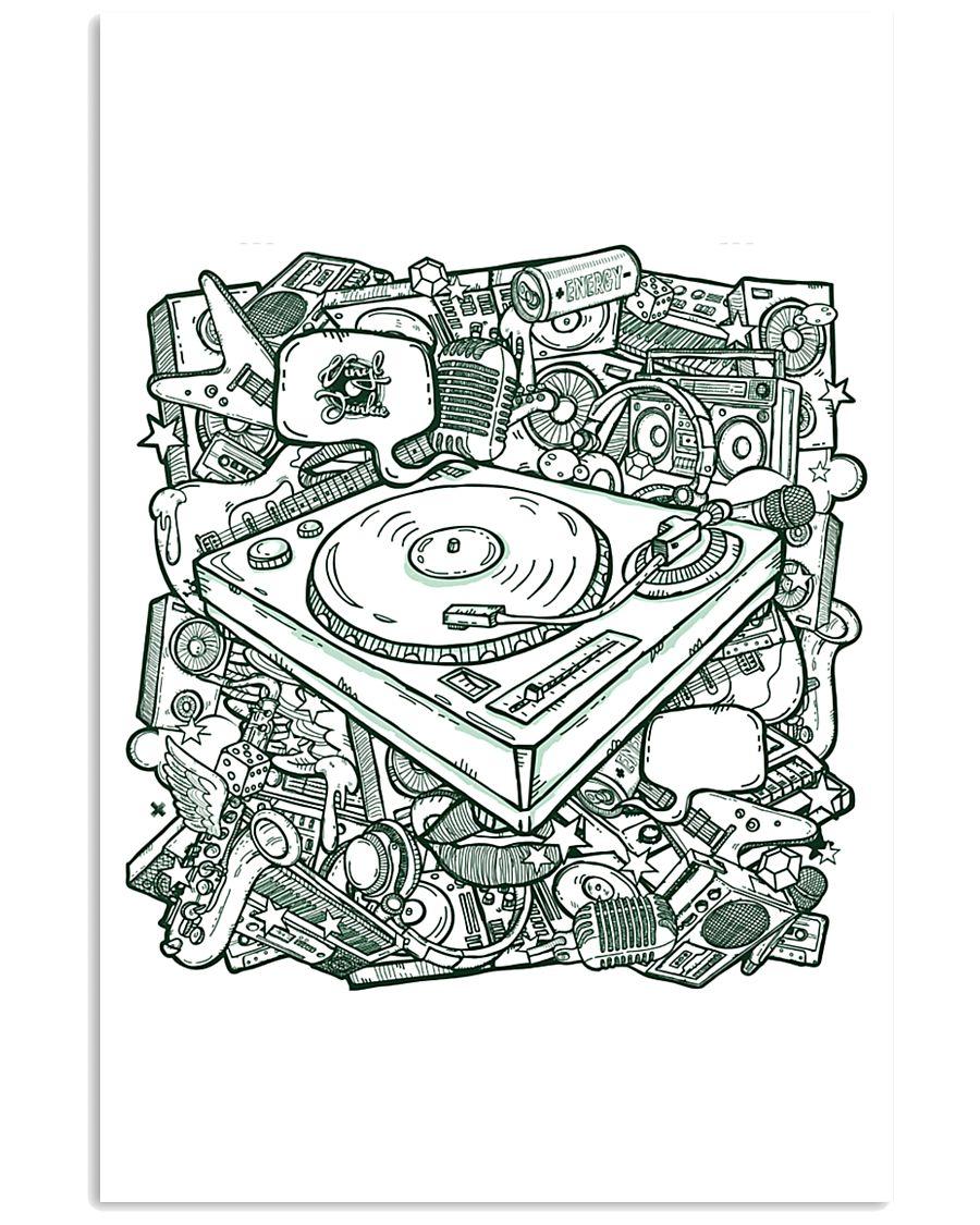 Unique DJ Doodle Art 11x17 Poster
