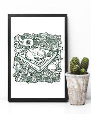 Unique DJ Doodle Art 11x17 Poster lifestyle-poster-8