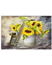 Saxophone And Sunflowers 17x11 Poster front