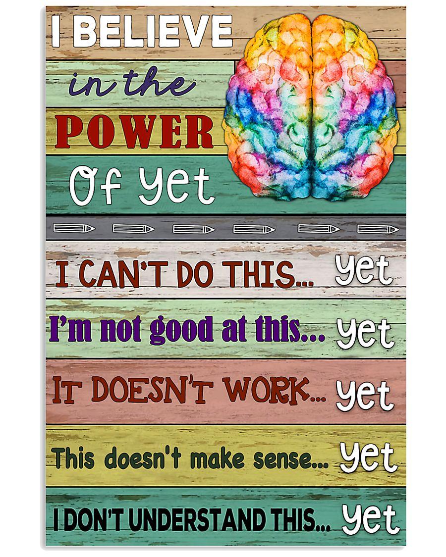 Power Of Yet Teacher  11x17 Poster